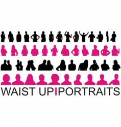 waist up and portraits vector image vector image
