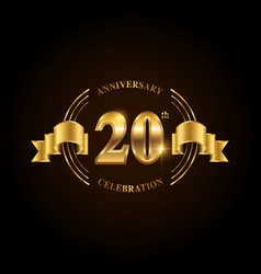 20 years anniversary celebration logotype golden vector