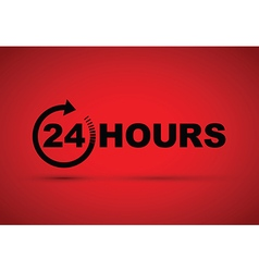 24 hours icon black vector