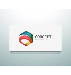Abstract logo design wave shape hexagon vector image