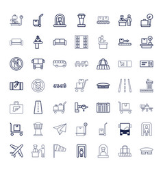 Airport icons vector