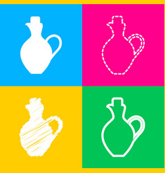 amphora sign four styles of icon on vector image