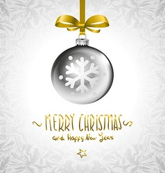 Background with Christmas balls Eps 10 silver vector image