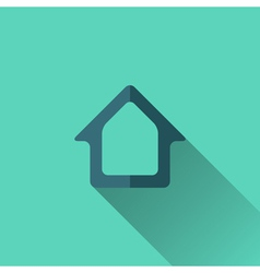 Blue home icon flat design vector