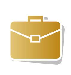 briefcase sign golden vector image