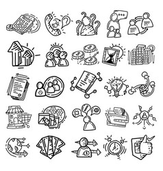 business icon business hand drawn icon design vector image