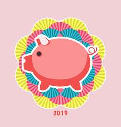 chinese new year 2019 of vector image