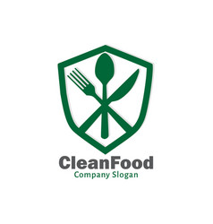 clean food vector image