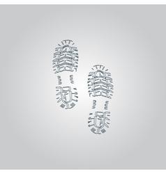 clean shoe imprints vector image