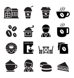 coffee shop icon vector image