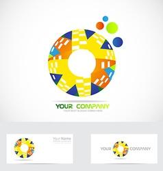 Colored circle logo vector image