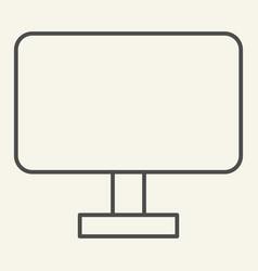 computer monitor thin line icon pc screen vector image