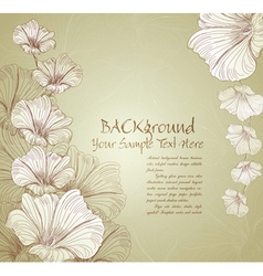 congratulatory floral background vector image