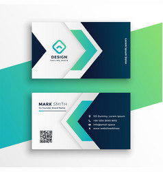 Corporate business card layout design template vector