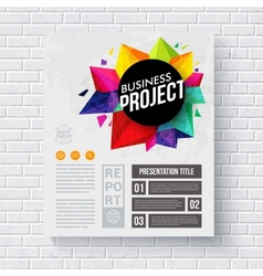 Corporate Identity Web Template on a Brick Wall vector image