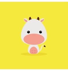 Cute Cartoon Wild cow vector