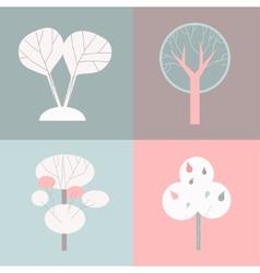 decorative trees vector image