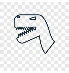 dinosaur concept linear icon isolated on vector image