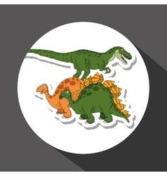 dinosaur icon design prehistoric animal vector image