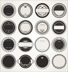 empty retro vintage badge collection 2 vector image