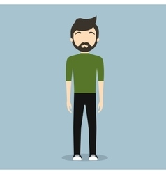 Faceless fashionable young man icon image vector