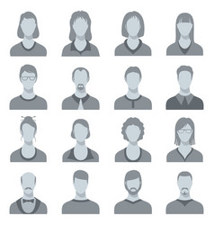 female and male head silhouettes user vector image