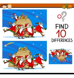 Find differences cartoon task vector