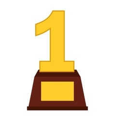 First place trophy isolated icon design vector