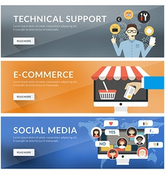 Flat design concept for technical support vector