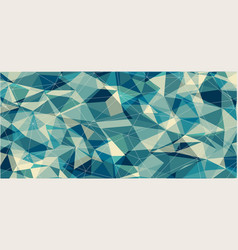 Flat horizontal triangle banner for web design vector