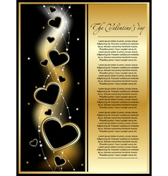 golden valentine background vector image