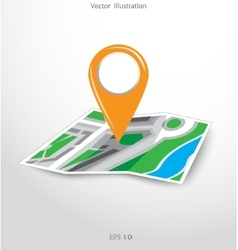 GPS city map with pointers vector image