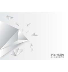 gray white polygonal background creative design vector image