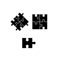 image puzzles logo logo vector image