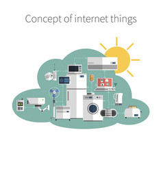 Internet things concept poster print vector