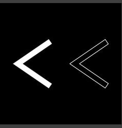 Kenaz rune kanu symbol ulcer torch icon set white vector