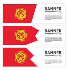 kyrgyzstan flag banners collection independence vector image