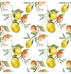 Lemons and oranges vector image