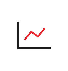 line chart graphic icon design template vector image