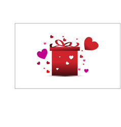 love happy valentines day template vector image