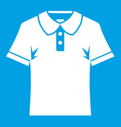 Men polo shirt icon white vector