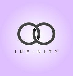 minimalist and elegant infinity symbol vector image