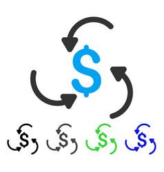 Money swirl flat icon vector