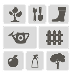 monochrome icons of Horticultur vector image