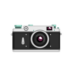 old film camera on a white vector image