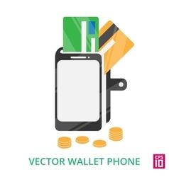 Phone wallet vector