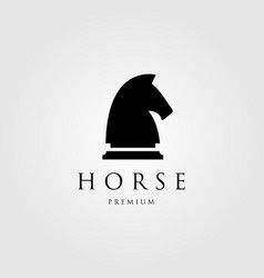 Premium horse head chess logo vector