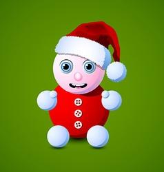 Santa baby vector image