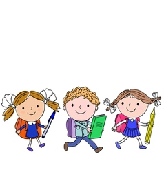 School kids 4 6 vector