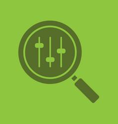 search preferences glyph color icon vector image